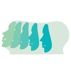 Emotion and expression masks vector image