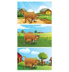 Farm Background vector image vector image