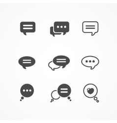Speech bubble icon set on white background vector image vector image