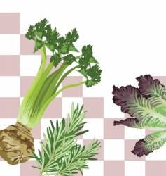 veggie square vector image vector image