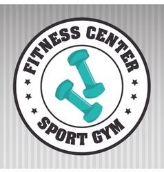 fitness center sport gym dumbbell vector image