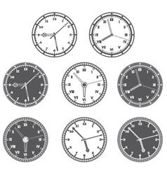 Hours set vector