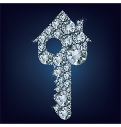 House key made up a lot of diamonds vector image vector image