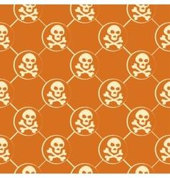 Orange Skull Pattern vector image vector image