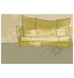 Sketch Couch background vector image