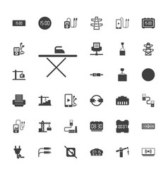 33 cable icons vector