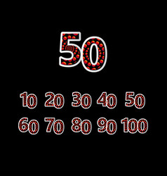 50 anniversary celebration bubble red number vector