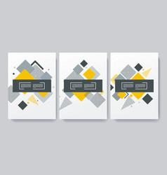 Abstract brochures design vector