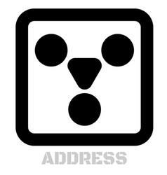 Address conceptual graphic icon vector