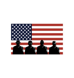 American Soldiers Stars and Stripes Flag vector