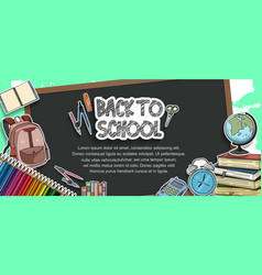 Back to school design with colorful education vector