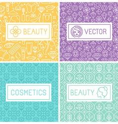 Beauty labels vector