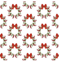 berry wreath pattern vector image