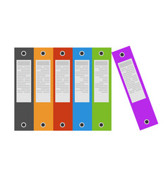 binders office folder ring icon file document vector image