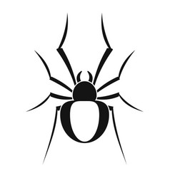 Black house spider icon simple style vector