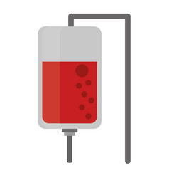 Blood bag symbol cartoon vector