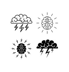 brain brainstorming icon vector image