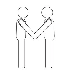 business mans handshake icon design vector image