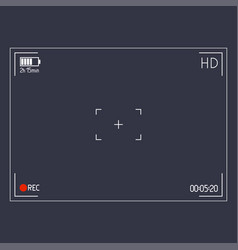 camera viewfinder editable stroke vector image