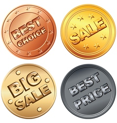 coin price tags vector image