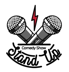 Color vintage Stand up comedy show emblem vector image