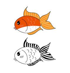 Cute goldfish vector