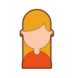 cute young girl avatar character vector image