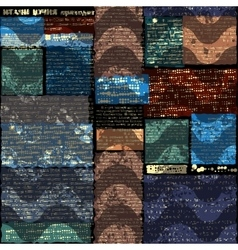 Dark newspaper background vector