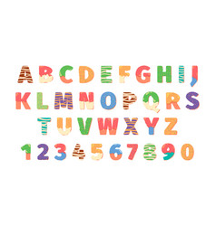 donuts alphabet letters food symbols text funny vector image