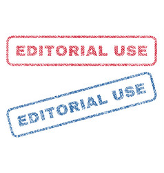 Editorial use textile stamps vector