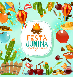 Festa junina frame background vector