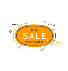 flat speech bubble shaped banners price tags vector image