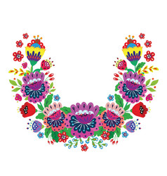 flower wreath bright cartoon flowers vector image