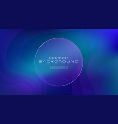 Gradient fluid blue color abstract background vector