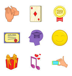 Grant icons set cartoon style vector