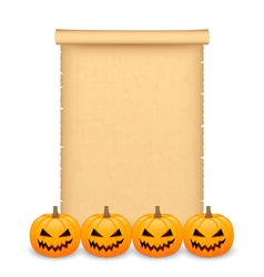 Halloween parchment vector image