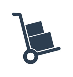 Handcart icon on white background vector
