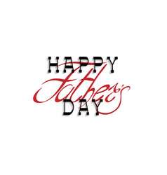 happy fathers day calligraphy handwritten vector image