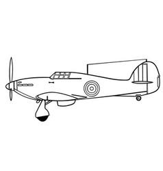 Hawker hurricane i side vector