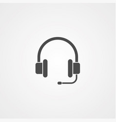 headphone icon sign symbol vector image