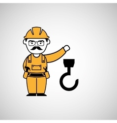 hook man worker construction design icon vector image