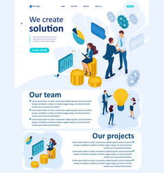 Isometric teamwork to create a solution vector