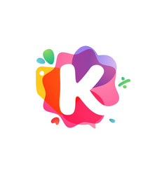 K letter logo with sale icons overlapping vector