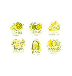lemonade labels or logos original design vector image
