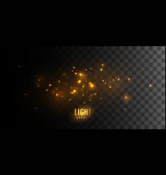 Luminous fire stars vector