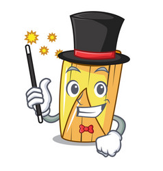 Magician tamale with corn leaf in cartoon vector