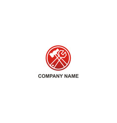 maintenance tool icon company logo vector image