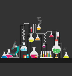 medical laboratory flat colorful vector image