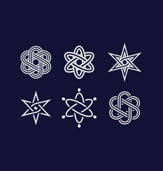 modern professional atom elements and symbols set vector image