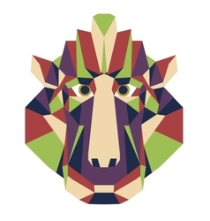 Monkey head triangular icon - low poly vector
